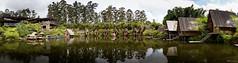 Sundanese Dinning - Bandung, Indonesia. (S.T.Chang) Tags: bandung dusunbambu indonesia panorama restaurant sundanese water pond lake reflection trees
