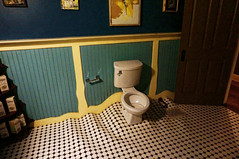somebody flushed a big one (rovingmagpie) Tags: newmexico santafe meowwolf houseofeternalreturn immersiveart art bday2018 pottyhumor toilet bathroom