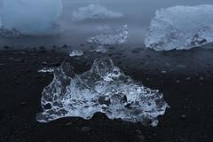 Diamond Beach - Iceland (virtualwayfarer) Tags: easternregion iceland is glacierbeach glacier glacialice ice blacksand iceandsand sea aftersunset sunset neardark diamondbeach jökulsárlónglacierlagoon jökulsárlón jokulsarlonbeach icelandic longexposure cold seascape coast waterfront iceberg landscape naturallandscape nature wild natural travelphotography visiticeland icelandicnature dusk sonyalpha a7rii alexberger virtualwayfarer roadtrip