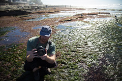 The Photographer Squat Workout (Caryn Sandoval) Tags: california tidepools tidepool nature ocean sea sealife sunset