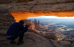 233 Matt at Mesa Arch (The_Little_GSP) Tags: moab utah mesaarch canyonlands nationalpark