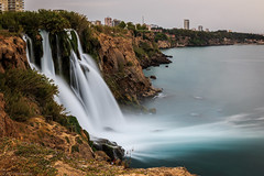 Raging water (The Frustrated Photog (Anthony) ADPphotography) Tags: antalya category dudenkiyiwaterfall places seascape travel turkey waterfall longexposure silkywater mediterranean tidefall sea cliffs seacliffs rocks rockface city coastline coast coastal canon1585mm canon70d canon outdoor travelphotography landscapephotography scenic scenery rock sky water landscape tree cityscape skyline
