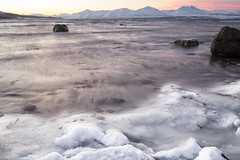Frozen Beach (Role Bigler) Tags: berge canonef2035mmisusm canoneos5dsr felsen fjord landschaft langzeitaufnahme longexposure meer natur nature norwegen schnee troms arctic beach coast cold frozen frozenbeach landscape manfrotto mountains norge norway rocks sea snow winter