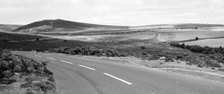 DEV_0304 - The Road to Widecombe-in-the-Moor - B3387 - Bone Hill Rocks, Dartmoor, Devon - August 22, 1981