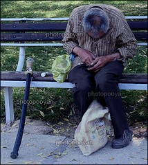 ([photopooyan]) Tags: patient park crutch people iran isfahan esfahan oldman