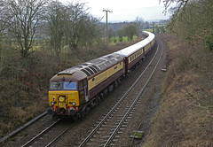 Huby, North Yorkshire (DieselDude321) Tags: 57312 57308 class 57 drs direct rail services 1z42 1027 york harrogate huby weeton north yorkshire northern belle