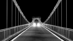 Wellington Suspension Bridge, Traffic.jpg (___INFINITY___) Tags: 6d aberdeen bw godoxad360 wellingtonsuspensionbridge architect architecture building canon canon1740f4 darrenwright dazza1040 eos fineart flash infinity light lightpainting night scotland strobist