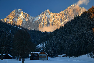 The south face of the Dachstein group in evening light