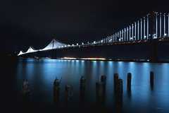 Bay Bridge (CROMEO) Tags: bay bridge sfo california san francisco city view lights luces tourism turismo america usa eeuu best cromeo capture full frame nikon pic digital artwork views eye colors world traveller trip cr make sf long exposure fullframe