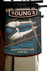 Pub sign for the Watermans Arms, Richmond. (Peter Anthony Gorman) Tags: rampubco youngs watermansarms pubsigns richmondpubs