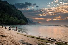20140201-_DSC5379 (bfluegie) Tags: hawaii kauai keebeach beach ocean sunset water d90 nikond90