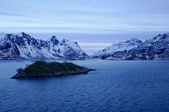 Blue light, fish farm (kim kim) Tags: svolvær hurtigruten norway arctic
