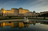 Belvedere palace Vienna (Dhaval Motghare) Tags: europe travel longexposure nikon d600 2470mm nd10 water architecture sky blue morning belvedere palace vienna austria