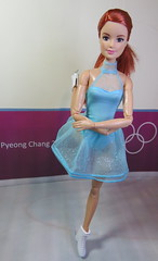 4. The Competition (Foxy Belle) Tags: doll barbie ice skate olympics korea 2018 competition costume purple wall pyeong chang redhead mtm made move mattel