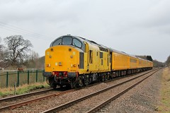Network Rail 97301 - Norwood Crossing (the mother '66' 66001) Tags: networkrail colasrail class37 97301 9703 dbso derby derbyrtc highmarnham robinhoodline