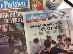 Le Parisien Etudiant Parcoursup (gab113) Tags: leparisien presse papier