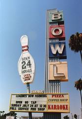 Linbrook Bowl, Anaheim, CA. (lammyracer) Tags: linbrookbowl minoltax700 bowling roadside anaheim 35mm film americana biggest bokeh