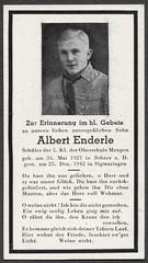 Archiv O728 Sterbebildchen Albert Enderle, 25. Dezember 1942 (Hans-Michael Tappen) Tags: archivhansmichaeltappen sterbebild sterbebildchen albertenderle junge boy jugendlicher tod inmemoriam 1942 1940s 1940er