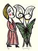 Calla-lily (Japanese Flower and Bird Art) Tags: flower callalily zantedeschia aethiopica araceae tamaji kitagawa print japan japanese art readercollection lithograph