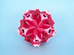 Portulaca (masha_losk) Tags: kusudama кусудама origamiwork origamiart foliage origami paper paperfolding modularorigami unitorigami модульноеоригами оригами бумага folded symmetry design handmade art