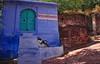 India-Rajasthan- Jodhpur (venturidonatella) Tags: india asia rajasthan jodhpur blu blue persone people nikon d300 nikond300 street strada streetlife scene