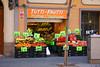 Tutti Frutti (danielchapman1) Tags: shop street tuttifrutti food grocer store fruit vegetables barcelona catalunya catalonia spain españa man person