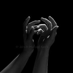 Dark Abstract 10 (Michael Koole - Vision Three Images) Tags: lowkey hands michaelkoole nikon d300 nikkor 50mmf14d strobist cls yongnuo yn968n speedlight monochrome bw