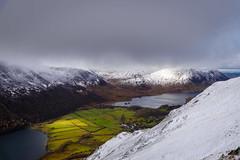 A Hint of Light on Buttermere Valley and Mellbreak (Joe Hayhurst) Tags: lakedistrct landscape mountain buttermere crummockwater mellbreak snow winter