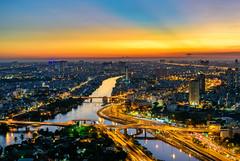 Nguyen Van Cu bridge @ sunset 2018 (daihocsi [(+84) 918.255.567]) Tags: second nguyenvancu bridge sunset hoànghôn