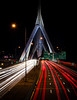 Triangles and lights (Rabican7) Tags: boston massachusetts city urban bridge highway traffic red white night speed longexposure newengland lighttrails light dark sign i93 zakim triangles lines triangle