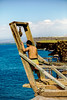 A Local Fisherman Looks Out To Sea From A Hoist Atop The Cliffs (wyojones) Tags: hawaii hawaiian hoist halaeacurrent kalae southpoint fisherman fishing man currents cliffs sea pacific ocean