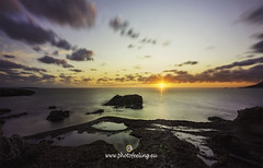 Ibiza Christmas Sunset (joana dueñas) Tags: ibiza island balearicislands spain seascape sunset christmassunset sun rockycoast beach joanadueñas photofeeling