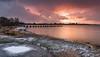 Snowy sunset (Dropping light photography) Tags: sandbanks dorset uk snow sunset seascape