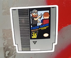 Fade Game Entertainment System (Fred:) Tags: fade game entertainment system montreal downtown razor rasoir stickerart stickers city sticker streetart nes nintendo video games barber barbershop hair haircut barbier jonthebarbernj newjersey urban street art urbain fadegame jonthebarber shop fading cutting shaving cartridge cassette jeuvidéo videogame retrogaming shave clipper retro gaming subvertising advertising ad promo culture jamming montréal