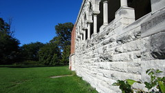 (AmyEAnderson) Tags: outdoor st marys chapel knox county knoxville illinois building architecture structure abandoned historic stone arches columns angles gray blue green
