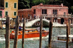 She Dreamed of Venice (socalgal_64) Tags: canal bridge architecture carolynlandi venice italy veniceitaly italia europe venezia colorful italianarchitecture palace piazza romantic city water structures boats waterways pilons picturesque scene scenic coth5