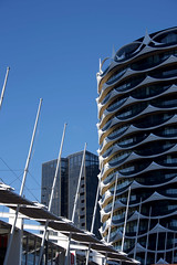 Featurism alive and well (bobarcpics) Tags: apartmentbuilding melbournedocklands masts featurism banksia mab mcr melbournearchitecture