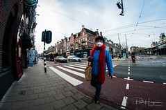 Mouth cap @ Amsterdam (PaulHoo) Tags: fisheye samyang 8mm nikon d300s amsterdam city urban architecture building people candid streetphotography 2018 mouthcap chinese airpolution