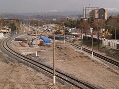 Road construction and its temporary impact on the railway, from Konya Road, Ankara (Steve Hobson) Tags: turkish railways tcdd ankara construction konya road
