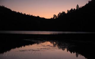 day 36 of 40; lake merced sunset