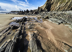 Perfect day (Maggie's Camera) Tags: perfectday february2018 marloes pembrokeshire sand sky rocks blue
