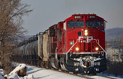 Unexpected Red (jterry618) Tags: newport minnesota canadianpacific cp ac4400cwm cp8111 ge railroad train diesel locomotive