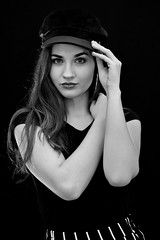 Marcelina in studio (piotr_szymanek) Tags: marcelina portrait studio blackandwhite woman girl skinny young eyesoncamera smalltits marcelinab 1k 5k 20f 50f 10k 20k closeup 30k longhair studiolight
