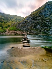 Stepping stones (John Hill Millar) Tags: thorpe cloud dovedale peak district staffordshire ilam peaks dove riverdove staffs long exposure slow shutter panasonic lumix gx gx80 gx85 mft micro four thirds microfourthirds 1232mm 12mm f16 iso200
