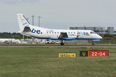 LOG_SAAB340B_GLGNE_STN_JUL17 (Yannick VP) Tags: civil commercial passenger pax transport prop propliner turboprop log lg loganair flybe saab 340 saab340 340b glgne stansted airport stn egss july 2017 united kingdom uk europe rwy22