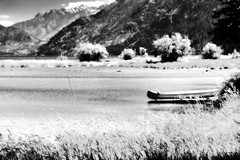 A Minimalist Look to a Setting Along Lake Chelan (Black & White, North Cascades National Park Service Complex) (thor_mark ) Tags: alongstehekinvalleyrd azimuth182 blackwhite blueskies bluesskieswithclouds bonanzamassif canoe capturenx2edited cascaderange castlerock centralnorthcascades colorefexpro day4 ducks ducksonlake flickridea grassyarea grassyfield grassymarsh grassymeadow grassymeadowalonglakeshore hillsideoftrees ideasigotfromothers lake lakechelan lakechelannationalrecreationarea landscape lookingsouth lucernemountain minimalist mountains mountainsindistance mountainsoffindistance nature nikond800e northcascades northcascadesnationalparkservicecomplex outside pacificranges partlycloudy portfolio project365 rollinghillsides snowonfaroffmountainpeaks snowcapped sunny trees triptonorthcascadesandwashington lakechelannationalrecreation washington unitedstates