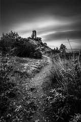 The Dark Tower (Mat Viv) Tags: canon eos 80d canoneos80d rebel samyang samyang16mmf2 wideangle longexposure blackandwhite monochrome monochromatic vertical landscape tower ruins mood dark sky clouds overcast sunset dusk twilight travel italy tuscany pisa art fineart matteoviviani
