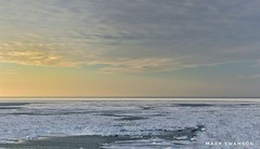 Evening Glow (mswan777) Tags: michigan 1855mm nikkor d5100 nikon evening coast shore wave scenic frozen cold winter horizon water ice light cloud sky sunset seascape