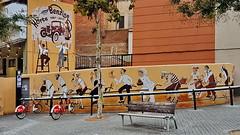 Rent-a-bike in Barcelona (gerard eder) Tags: world travel reise viajes europa europe españa spain spanien barcelona bicycle fahrrad bicing städte street stadtlandschaft streetlife streetart graffiti city ciudades cityscape cityview cataluña outdoor