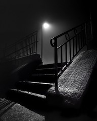into the mystic (-liyen-) Tags: night fog outdoors lamp mysterious steps fujixt2 matchpointwinner champion t603